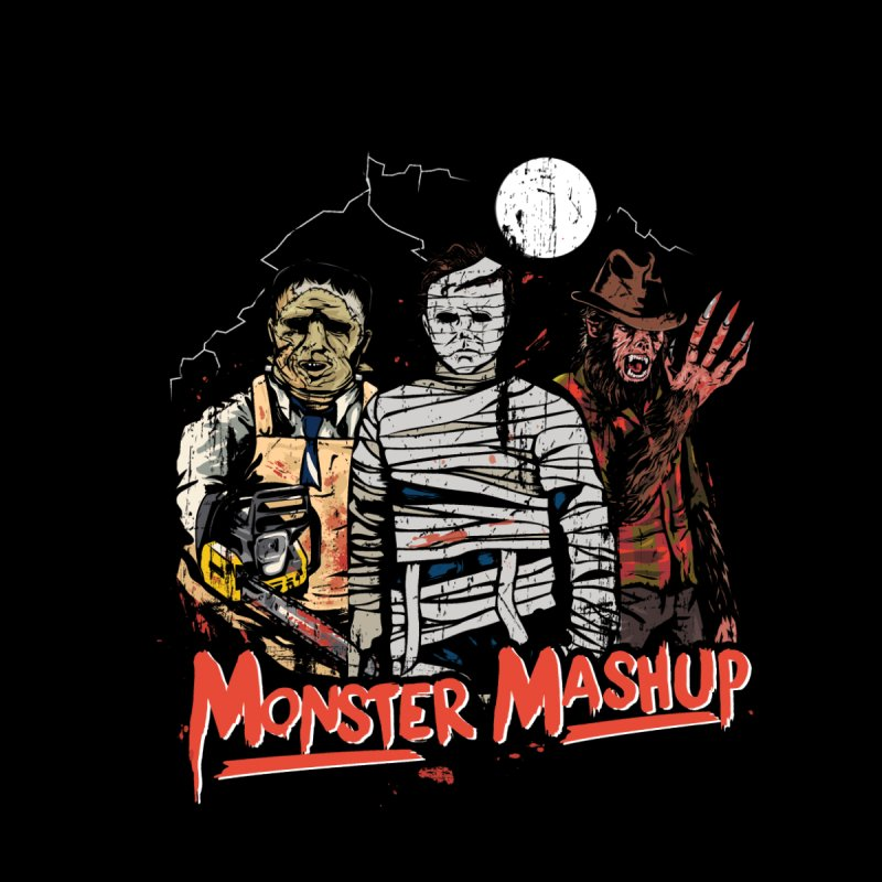 Monster Mashup Women's Longsleeve T-Shirt by Daniel Stevens's Artist Shop