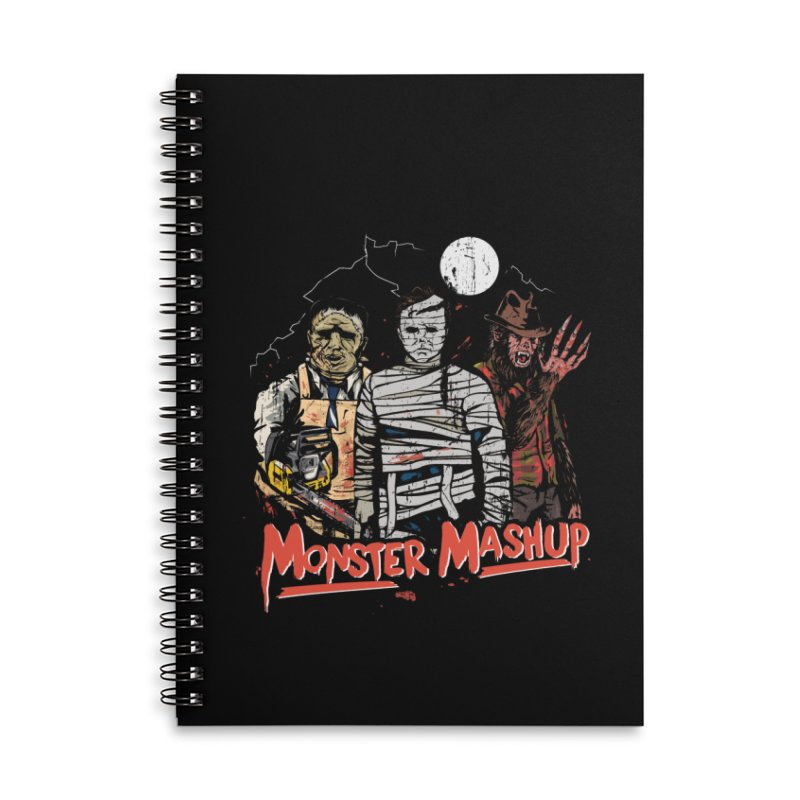 Monster Mashup Accessories Lined Spiral Notebook by Daniel Stevens's Artist Shop