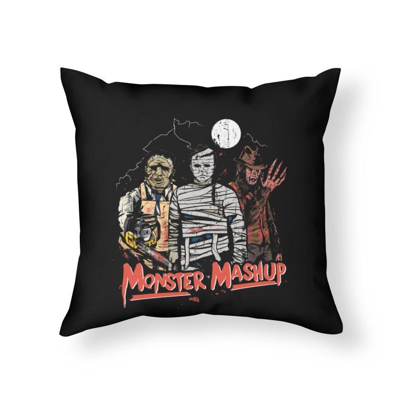 Monster Mashup Home Throw Pillow by Daniel Stevens's Artist Shop