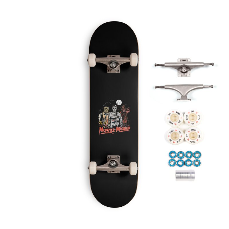 Monster Mashup Accessories Complete - Premium Skateboard by Daniel Stevens's Artist Shop