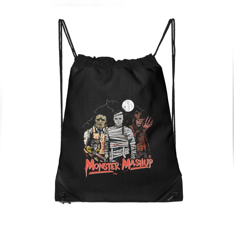 Monster Mashup Accessories Drawstring Bag Bag by Daniel Stevens's Artist Shop