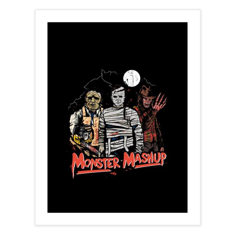 Monster Mashup Home Fine Art Print by Daniel Stevens's Artist Shop