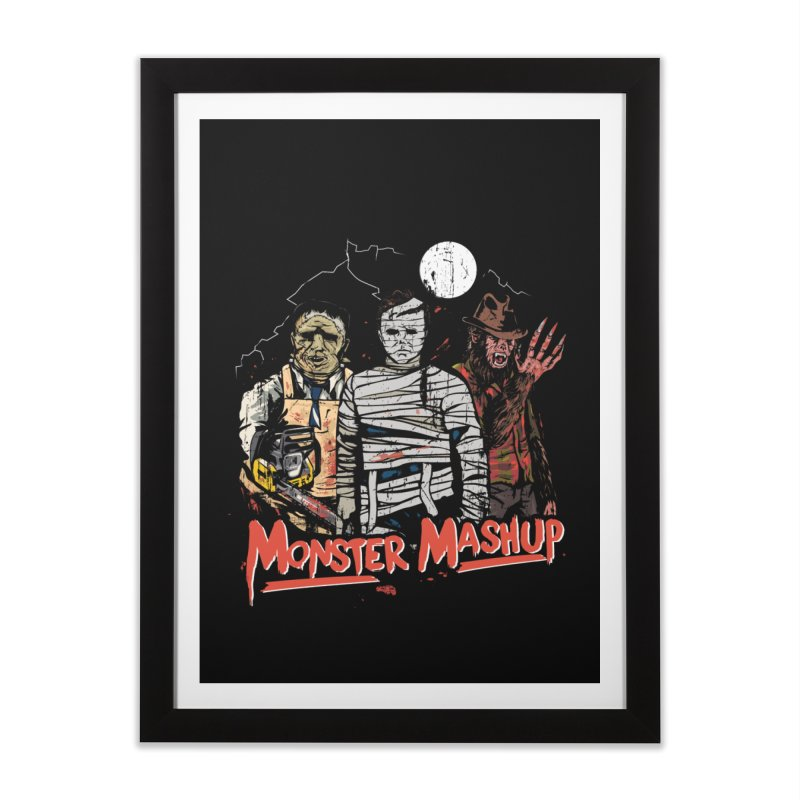 Monster Mashup Home Framed Fine Art Print by Daniel Stevens's Artist Shop