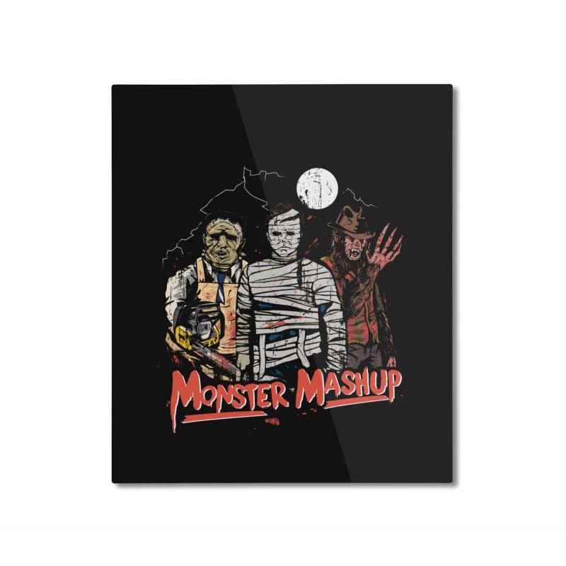 Monster Mashup Home Mounted Aluminum Print by Daniel Stevens's Artist Shop