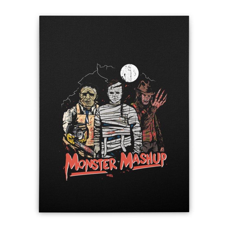 Monster Mashup Home Stretched Canvas by Daniel Stevens's Artist Shop