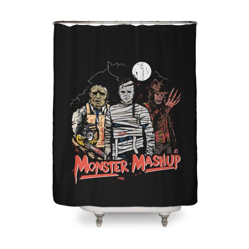 Monster Mashup Home Shower Curtain by Daniel Stevens's Artist Shop