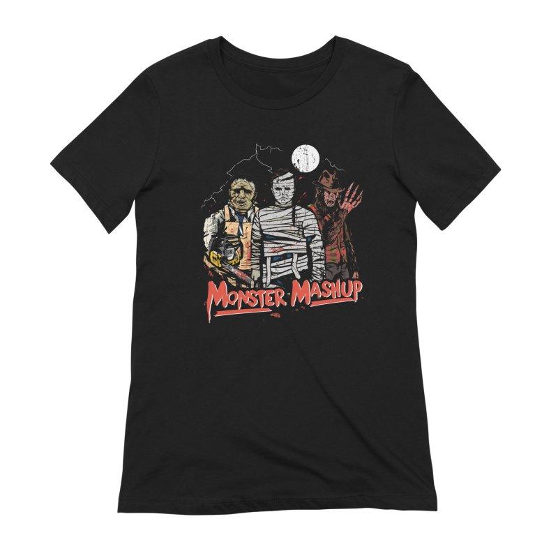 Monster Mashup Women's Extra Soft T-Shirt by Daniel Stevens's Artist Shop