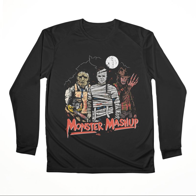 Monster Mashup Men's Performance Longsleeve T-Shirt by Daniel Stevens's Artist Shop