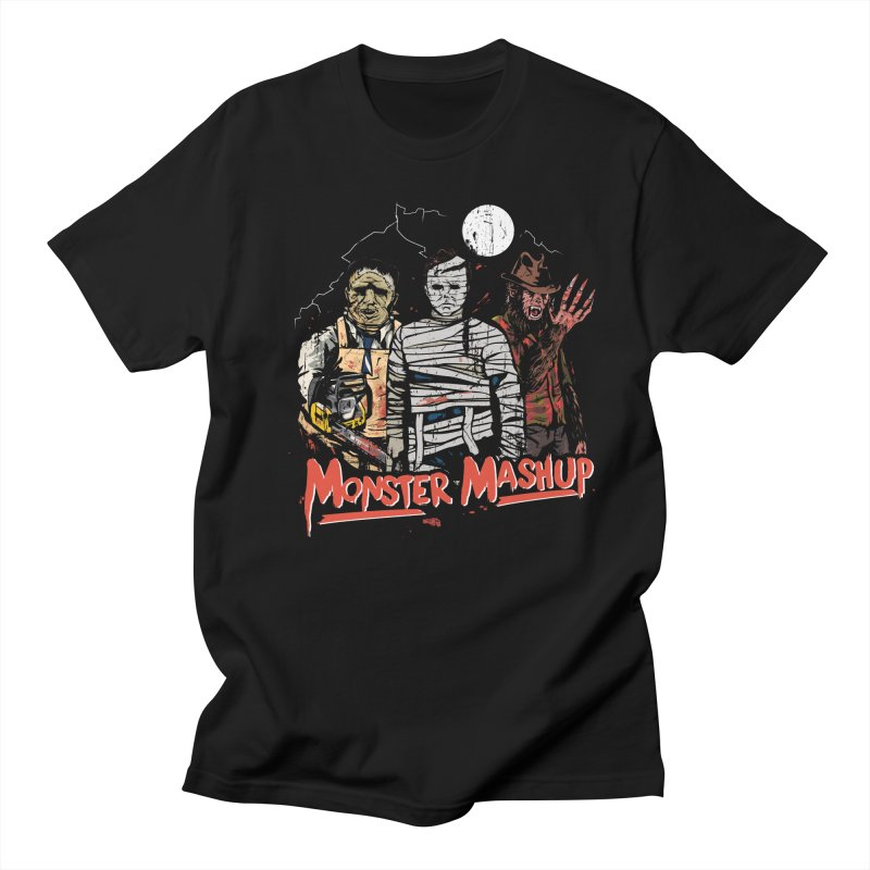 Monster Mashup in Men's Regular T-Shirt Black by Daniel Stevens's Artist Shop
