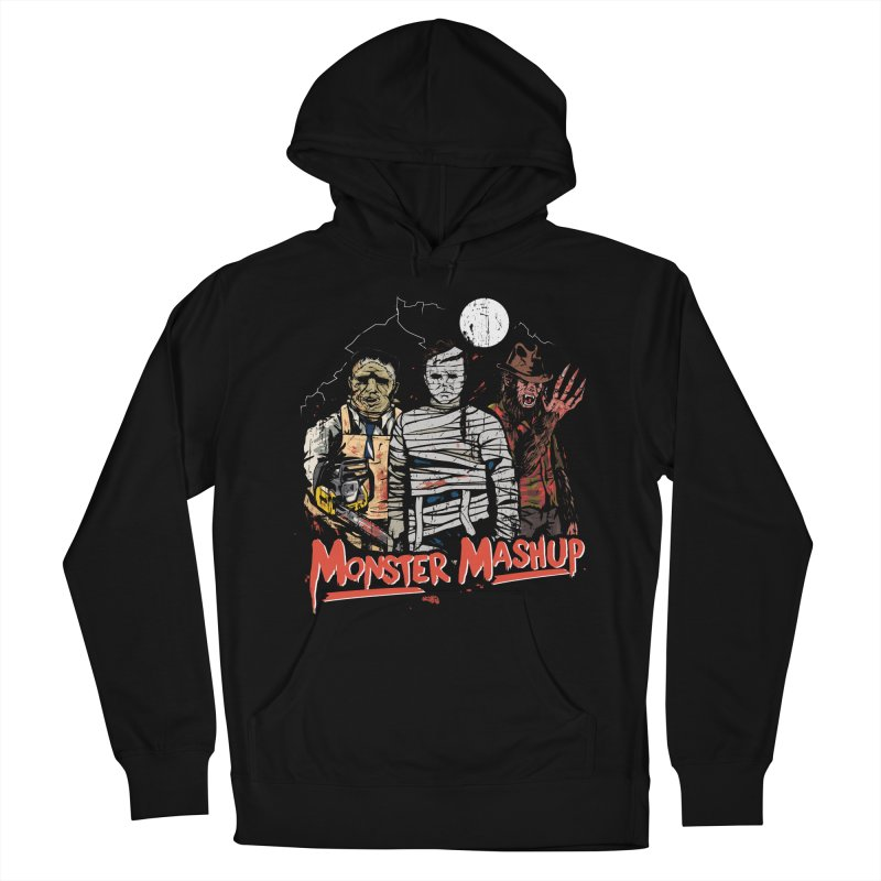 Monster Mashup Men's French Terry Pullover Hoody by Daniel Stevens's Artist Shop