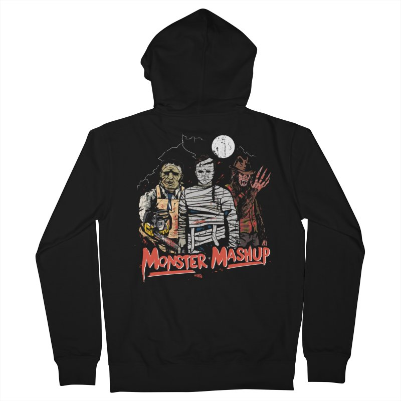 Monster Mashup Men's French Terry Zip-Up Hoody by Daniel Stevens's Artist Shop