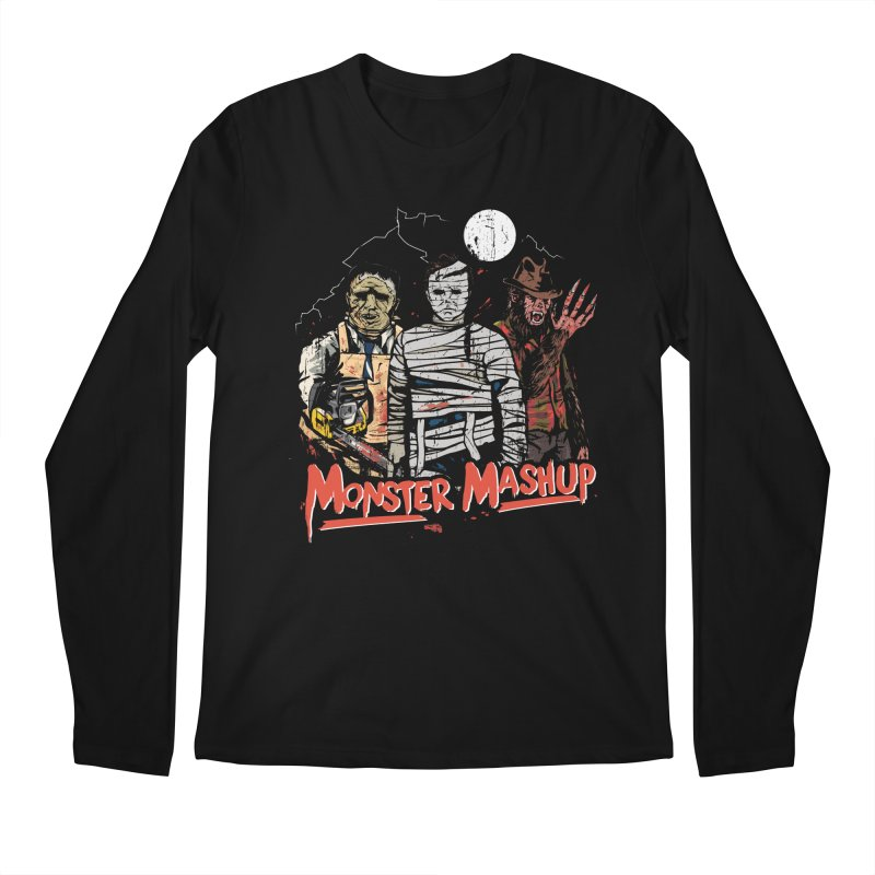 Monster Mashup Men's Regular Longsleeve T-Shirt by Daniel Stevens's Artist Shop