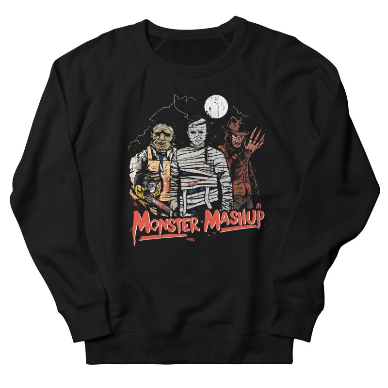 Monster Mashup Women's French Terry Sweatshirt by Daniel Stevens's Artist Shop