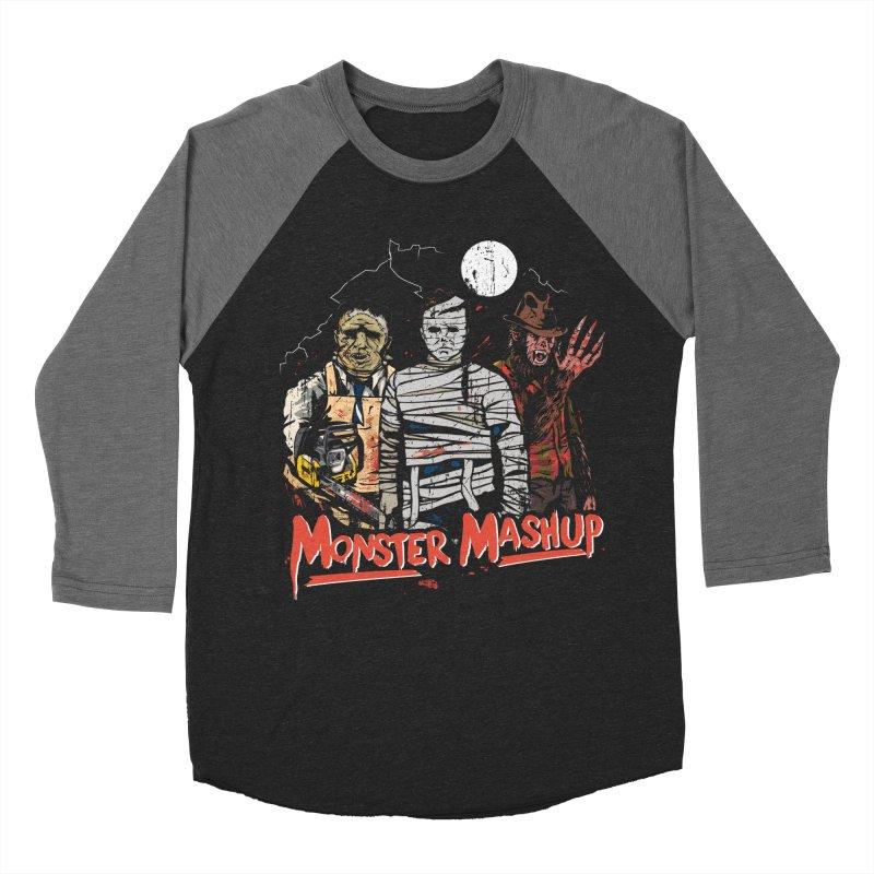 Monster Mashup Men's Baseball Triblend Longsleeve T-Shirt by Daniel Stevens's Artist Shop
