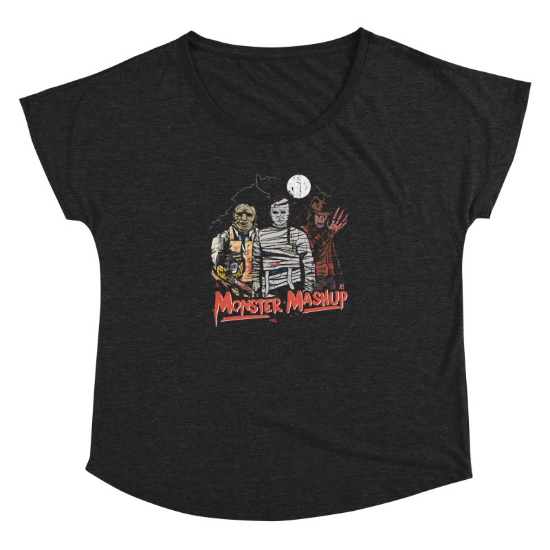 Monster Mashup Women's Dolman Scoop Neck by Daniel Stevens's Artist Shop