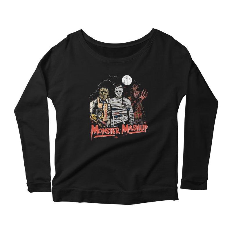 Monster Mashup Women's Scoop Neck Longsleeve T-Shirt by Daniel Stevens's Artist Shop