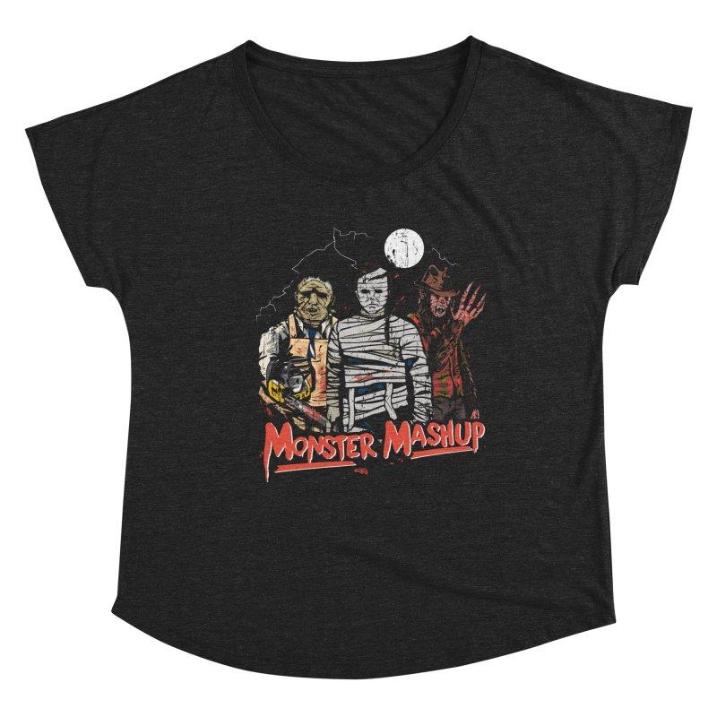 Monster Mashup Women's Scoop Neck by Daniel Stevens's Artist Shop