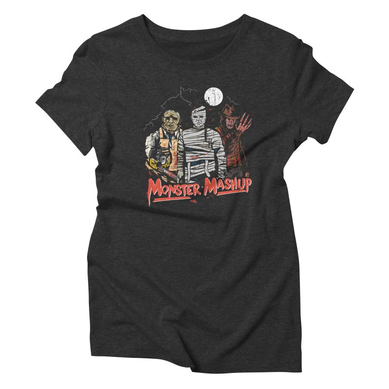 Monster Mashup Women's Triblend T-Shirt by Daniel Stevens's Artist Shop
