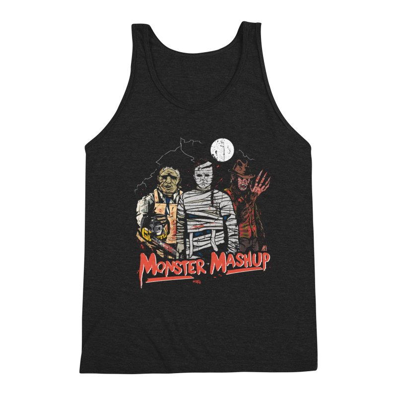Monster Mashup Men's Triblend Tank by Daniel Stevens's Artist Shop