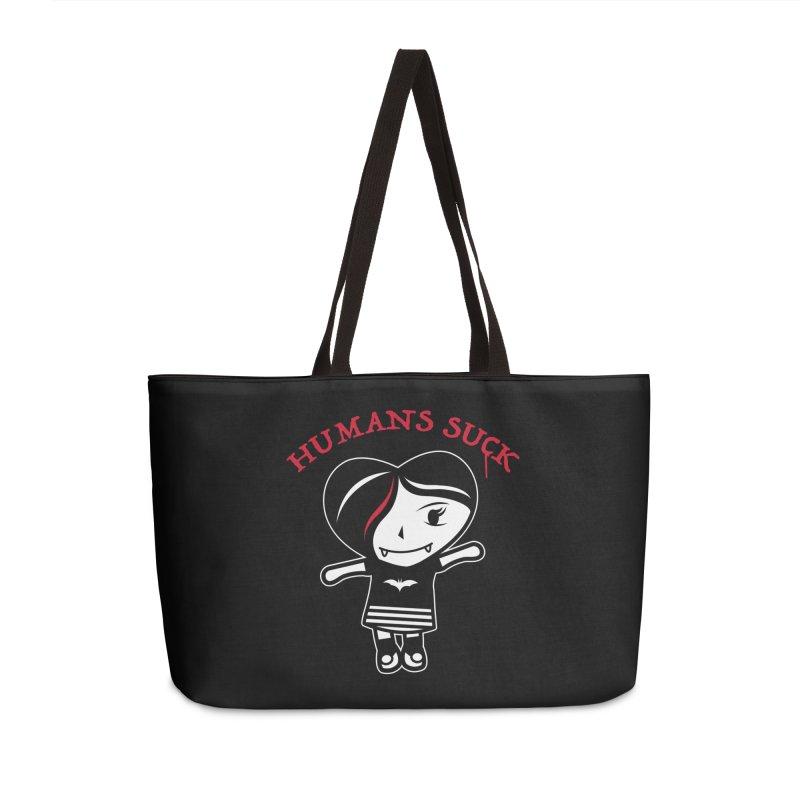 Humans Suck Accessories Weekender Bag Bag by Daniel Stevens's Artist Shop