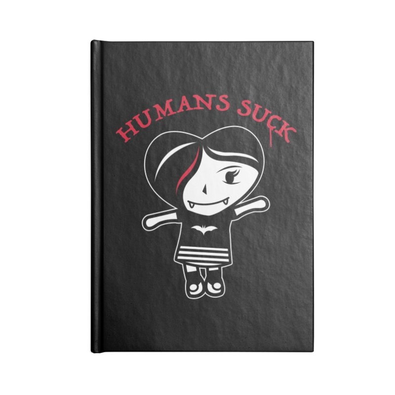 Humans Suck Accessories Lined Journal Notebook by Daniel Stevens's Artist Shop