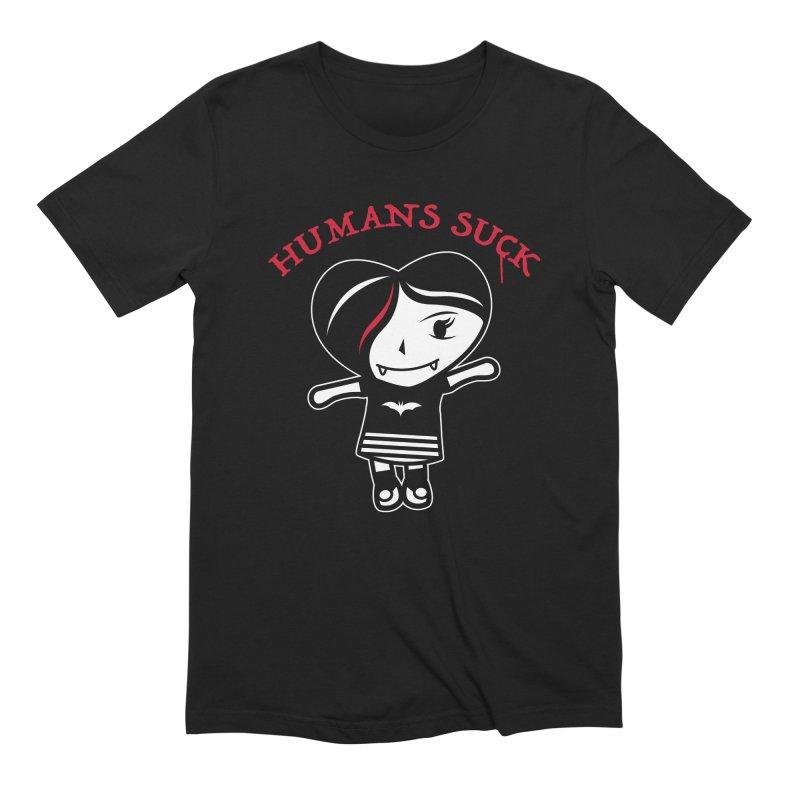 Humans Suck Men's Extra Soft T-Shirt by Daniel Stevens's Artist Shop