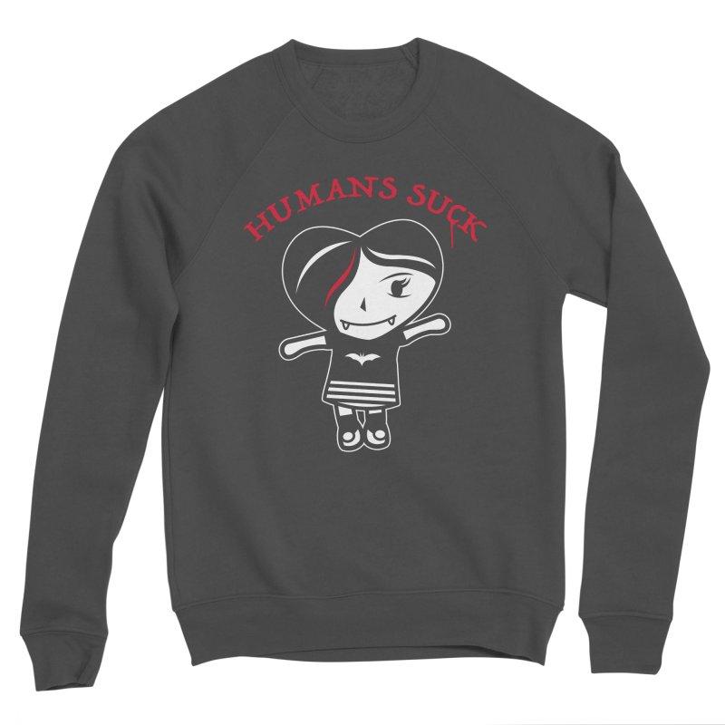 Humans Suck Women's Sponge Fleece Sweatshirt by Daniel Stevens's Artist Shop