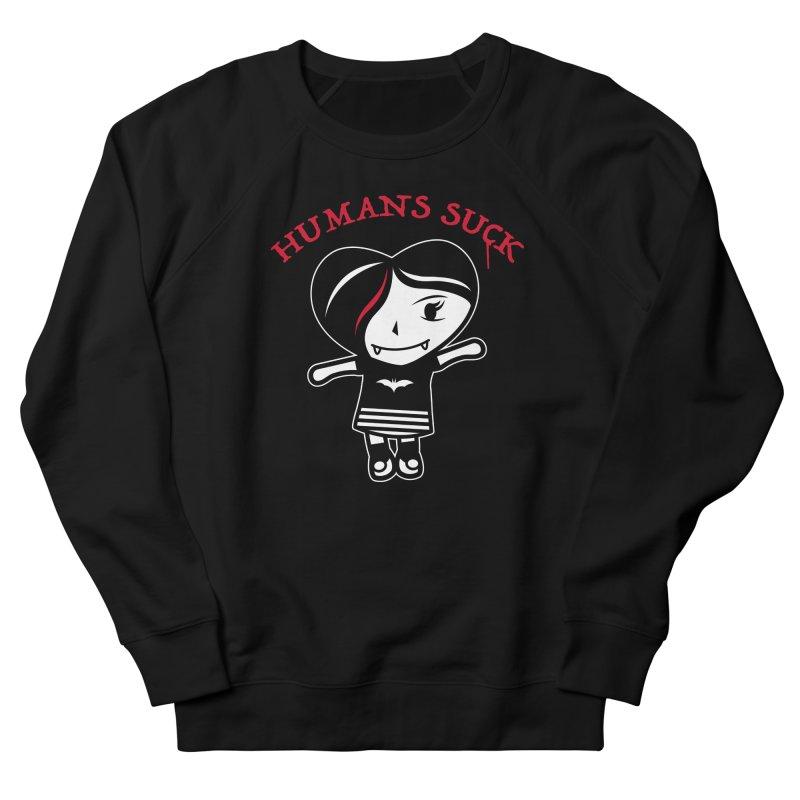 Humans Suck Women's French Terry Sweatshirt by Daniel Stevens's Artist Shop