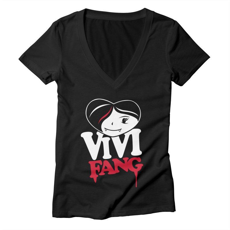 Vi Vi Fang Women's Deep V-Neck V-Neck by Daniel Stevens's Artist Shop