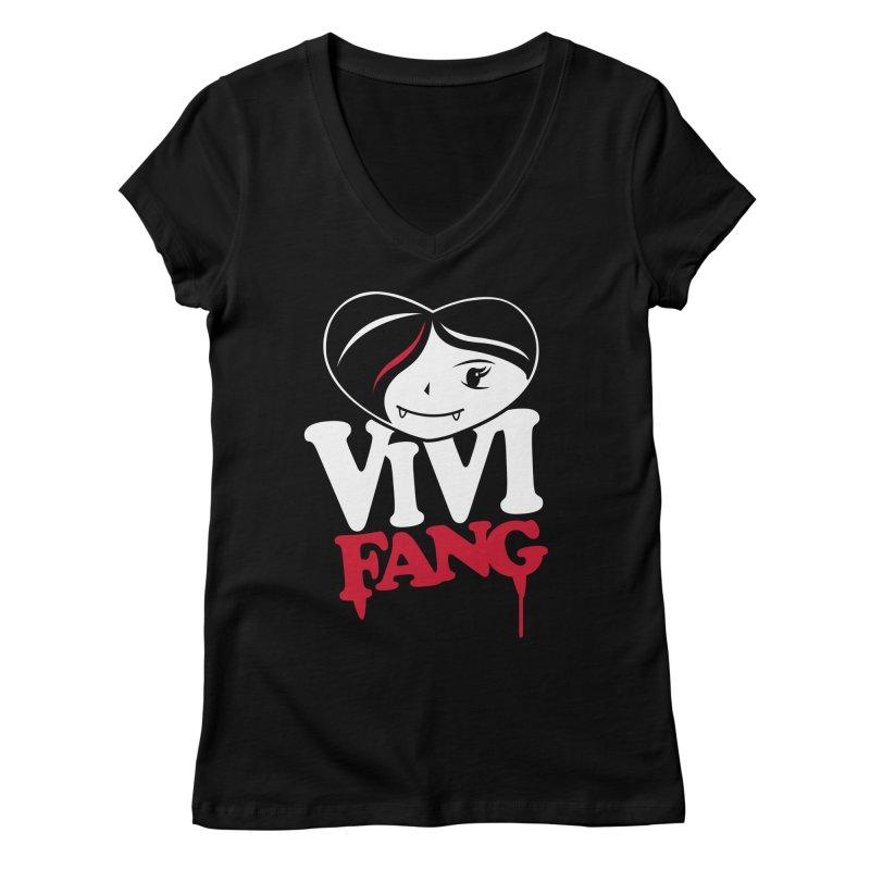Vi Vi Fang Women's Regular V-Neck by Daniel Stevens's Artist Shop