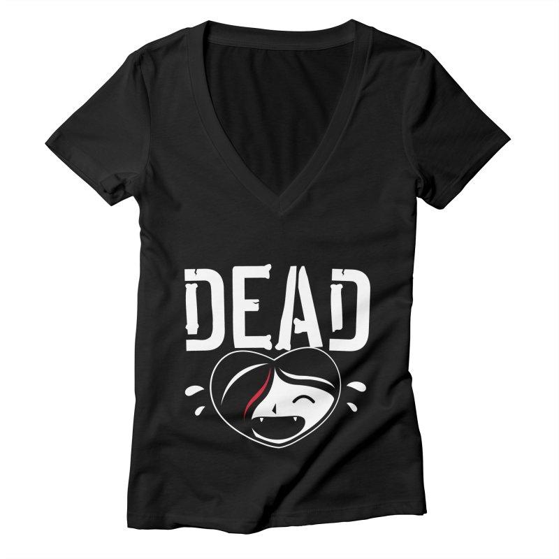 Dead Women's Deep V-Neck V-Neck by Daniel Stevens's Artist Shop