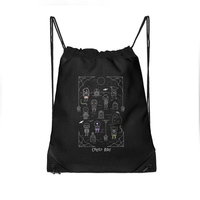 Creep Kids Accessories Drawstring Bag Bag by Daniel Stevens's Artist Shop