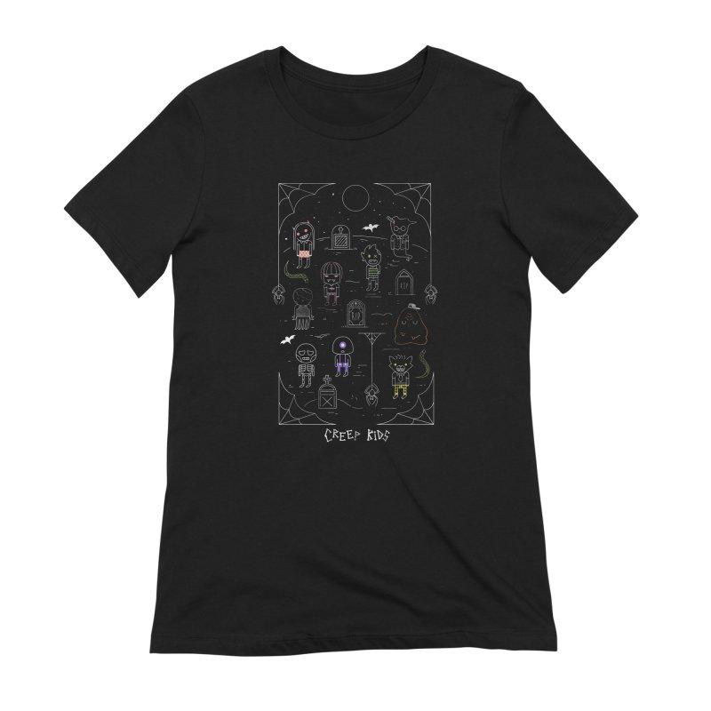 Creep Kids Women's Extra Soft T-Shirt by Daniel Stevens's Artist Shop