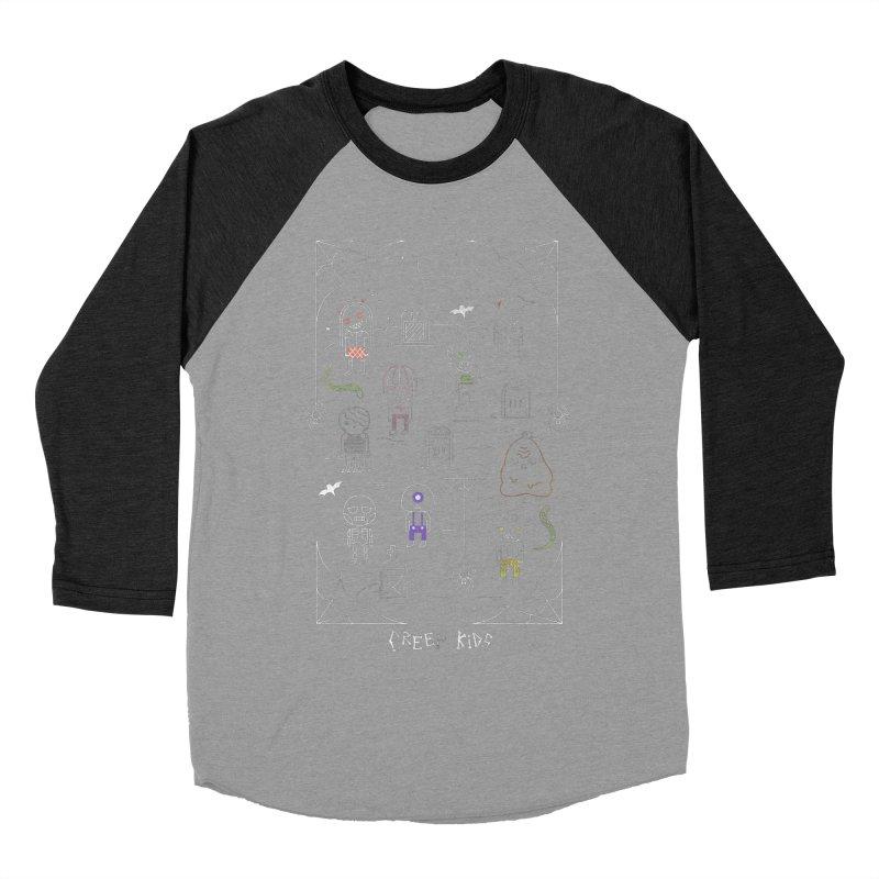 Creep Kids Women's Baseball Triblend Longsleeve T-Shirt by Daniel Stevens's Artist Shop