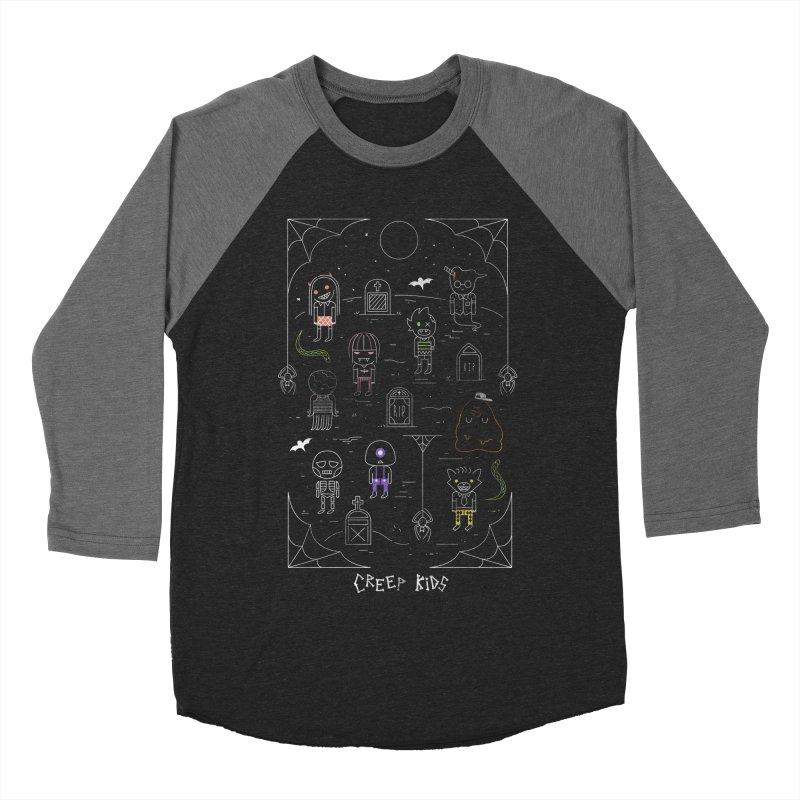 Creep Kids Men's Baseball Triblend Longsleeve T-Shirt by Daniel Stevens's Artist Shop