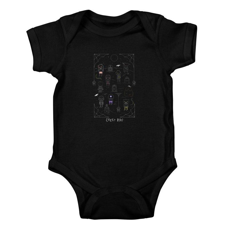 Creep Kids Kids Baby Bodysuit by Daniel Stevens's Artist Shop