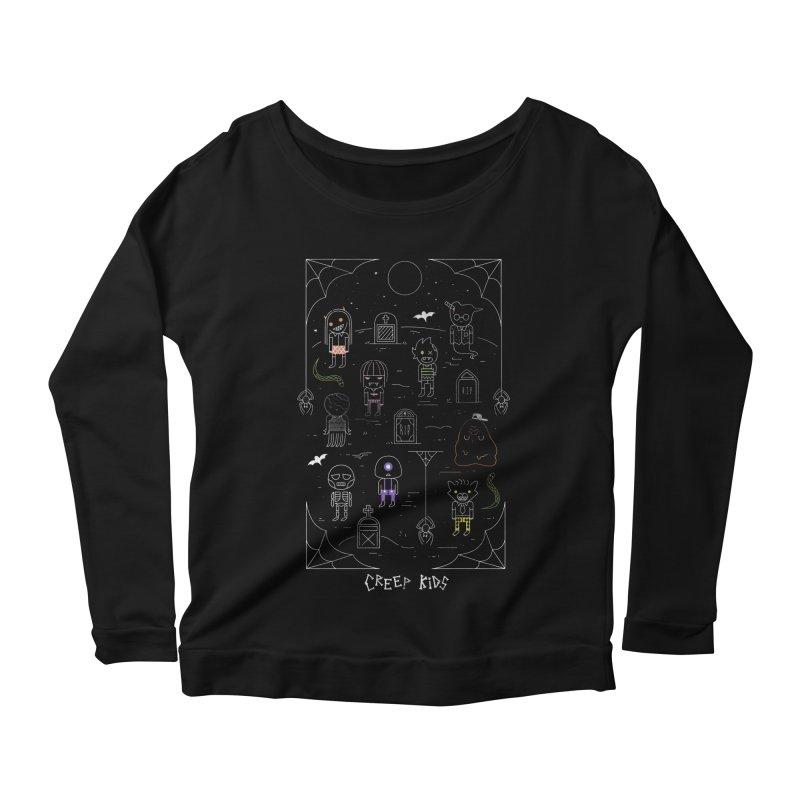 Creep Kids Women's Scoop Neck Longsleeve T-Shirt by Daniel Stevens's Artist Shop