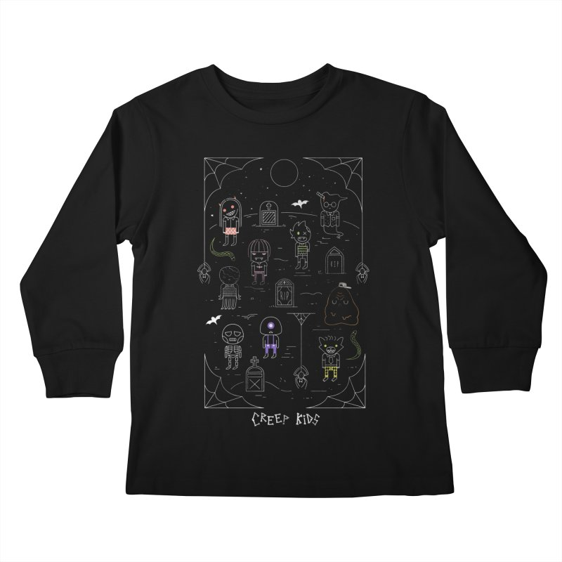 Creep Kids Kids Longsleeve T-Shirt by Daniel Stevens's Artist Shop