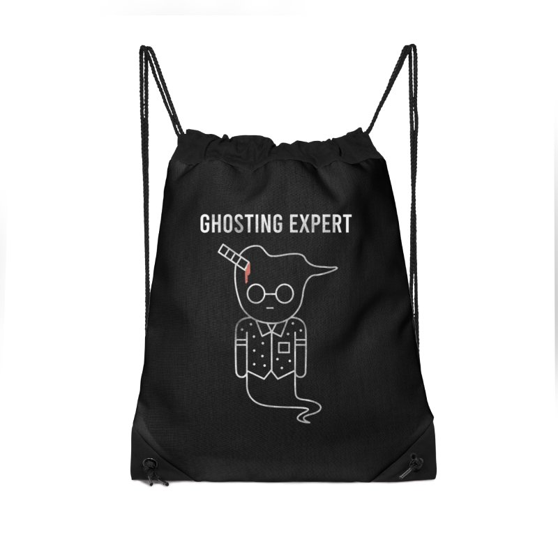 Ghosting Expert Accessories Drawstring Bag Bag by Daniel Stevens's Artist Shop