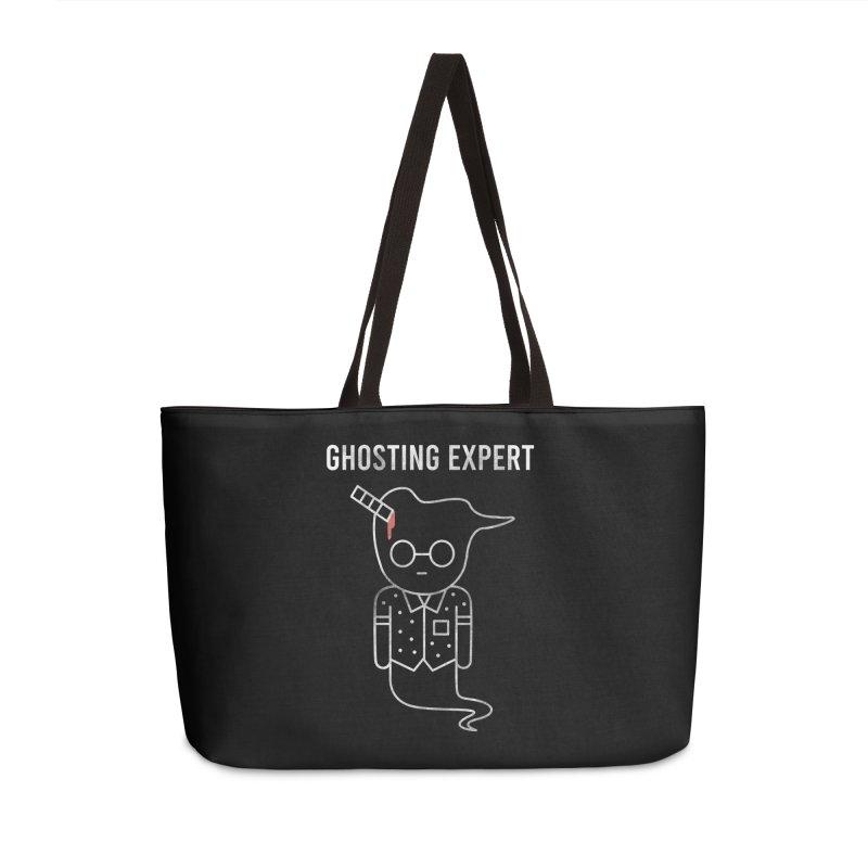 Ghosting Expert Accessories Weekender Bag Bag by Daniel Stevens's Artist Shop