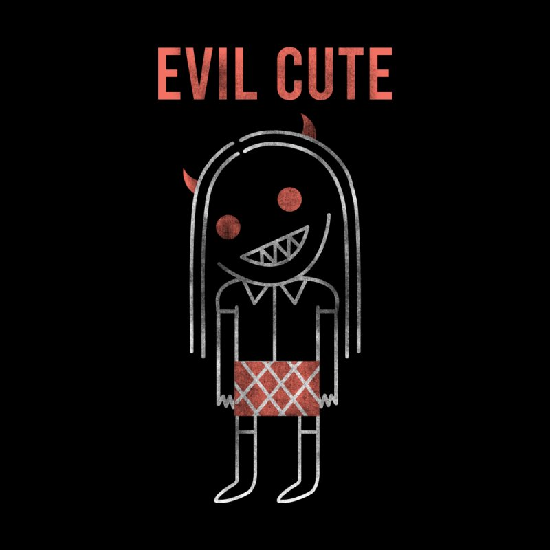 Evil Cute Women's V-Neck by Daniel Stevens's Artist Shop