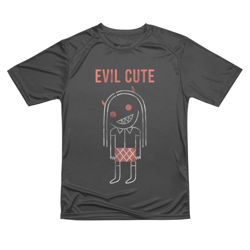 Evil Cute Women's Performance Unisex T-Shirt by Daniel Stevens's Artist Shop