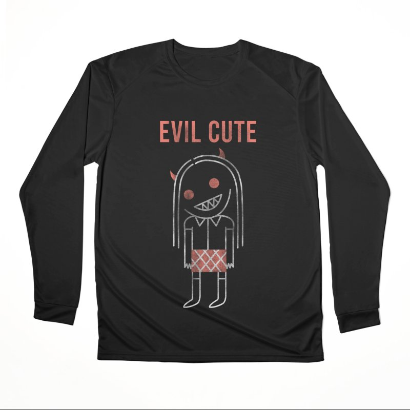 Evil Cute Men's Performance Longsleeve T-Shirt by Daniel Stevens's Artist Shop