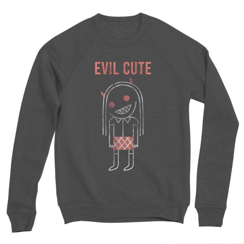 Evil Cute Men's Sponge Fleece Sweatshirt by Daniel Stevens's Artist Shop