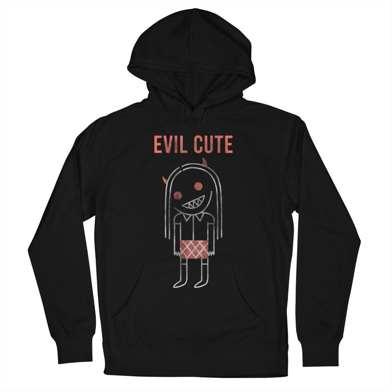 Evil Cute Men's French Terry Pullover Hoody by Daniel Stevens's Artist Shop