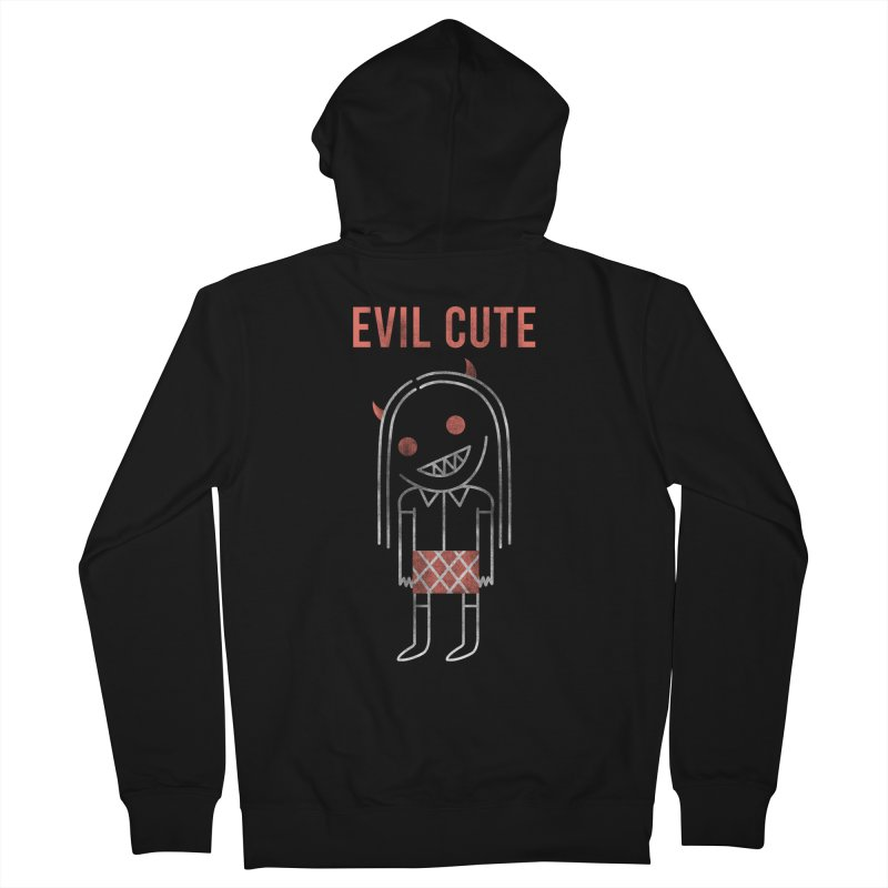 Evil Cute Women's French Terry Zip-Up Hoody by Daniel Stevens's Artist Shop