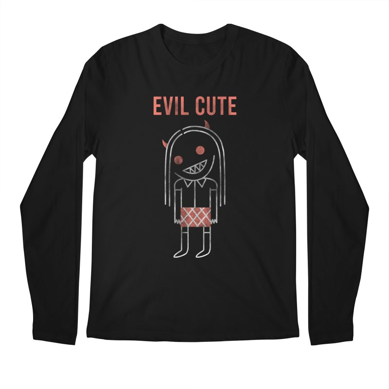Evil Cute Men's Regular Longsleeve T-Shirt by Daniel Stevens's Artist Shop