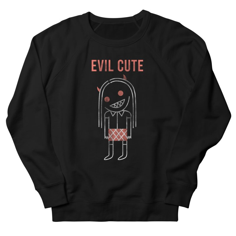 Evil Cute Men's French Terry Sweatshirt by Daniel Stevens's Artist Shop