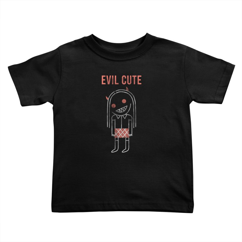 Evil Cute Kids Toddler T-Shirt by Daniel Stevens's Artist Shop
