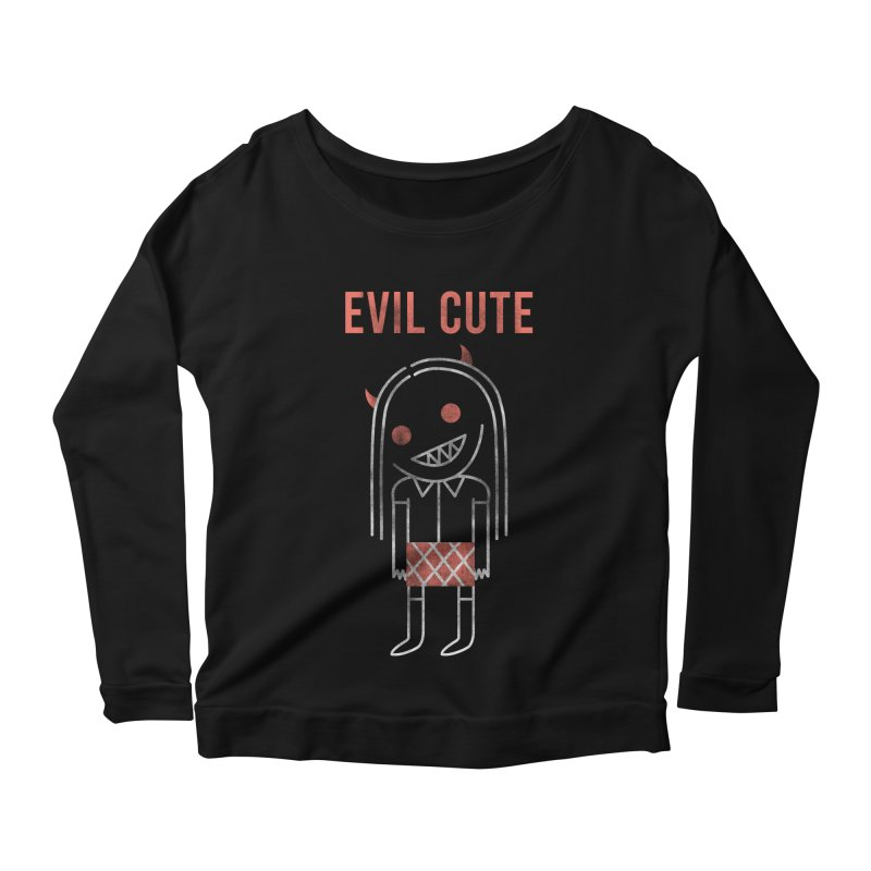 Evil Cute Women's Longsleeve T-Shirt by Daniel Stevens's Artist Shop